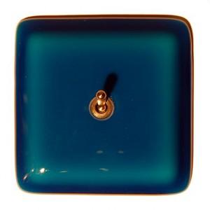 interrupteur en verre bleu